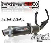 Escape / Ponteira Coyote RS4 Fibra de Carbono Redondo - Comet 250 / GTR - Super Moto Shop