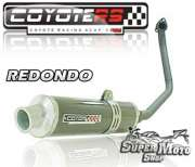Escape / Ponteira Coyote RS4 Fibra de Carbono Redondo - Max 125 - Super Moto Shop