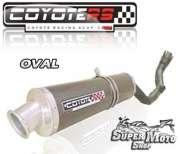 Escape / Ponteira Coyote RS4 Fibra de Carbono Oval -  XR 250 Tornado Até ano 2006 - Super Moto Shop