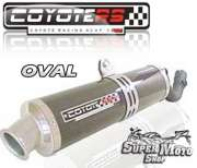 Escape / Ponteira Coyote RS4 Fibra de Carbono Oval - XT 600 Ano 1994 até 1996 - Super Moto Shop