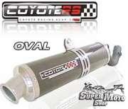 Escape / Ponteira Coyote RS4 Fibra de Carbono Oval - XT 600 Ano 1997 em diante - Super Moto Shop