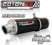 Escape / Ponteira Coyote RS4 Fibra de Carbono Redondo -  XR 250 Tornado Ano 2006 em diante - Super Moto Shop