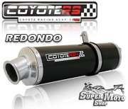 Escape / Ponteira Coyote RS4 Fibra de Carbono Redondo - XT 600 Ano 1994 até 1996 - Super Moto Shop