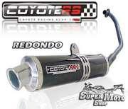 Escape / Ponteira Coyote RS4 Fibra de Carbono Redondo - Fazer 250 - Super Moto Shop