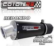 Escape / Ponteira Coyote RS4 Fibra de Carbono Redondo  (estilo racing) - Tirumph Daytona T 509/595/955 - Super Moto Shop