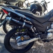 Escape / Ponteira Coyote RS3 Aluminio Oval XRE 300 Todos os Anos - Preto - Honda - Super Moto Shop