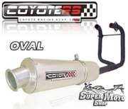 Escape / Ponteira Coyote RS2 Aço inox  Oval (2x1) - CB 400 / 450 - Super Moto Shop