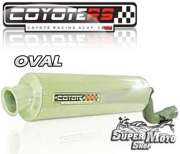 Escape / Ponteira Coyote RS2 Aço inox Oval - NX 350 Sahara - Super Moto Shop