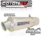 Escape / Ponteira Coyote RS2 Aço inox Oval - Triumph Sprint ST 955i - Super Moto Shop