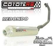 Escape / Ponteira Coyote RS2 Aço inox Redondo - CG 125 Fan Até ano 2008 - Super Moto Shop