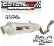 Escape / Ponteira Coyote RS2 Aço inox Oval - XR 250 Tornado Até ano 2006 - Super Moto Shop