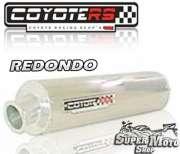 Escape / Ponteira Coyote RS2 Aço inox Redondo (Par) - CBX 750 Ano 1987 até 1994 - Super Moto Shop