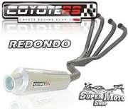 Escape / Ponteira Coyote RS2 Aço inox Redondo (4x1) - CBX 750 Ano 1987 até 1994 - Super Moto Shop