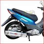 Escape / Ponteira Coyote RS5 Boca 8 Aluminio Oval Biz 125 até 2010 - Polido - Honda - Super Moto Shop