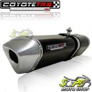 Escape / Ponteira Coyote TRS Tri-Oval Alum�nio Speed 150 - Preto - Dafra - Super Moto Shop