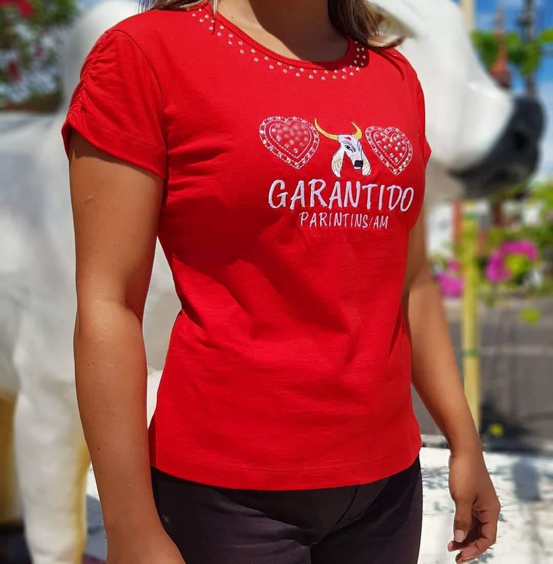 Baby Look Garantido Bord. 03 - Q BOI Produtos do Festival de Parintins