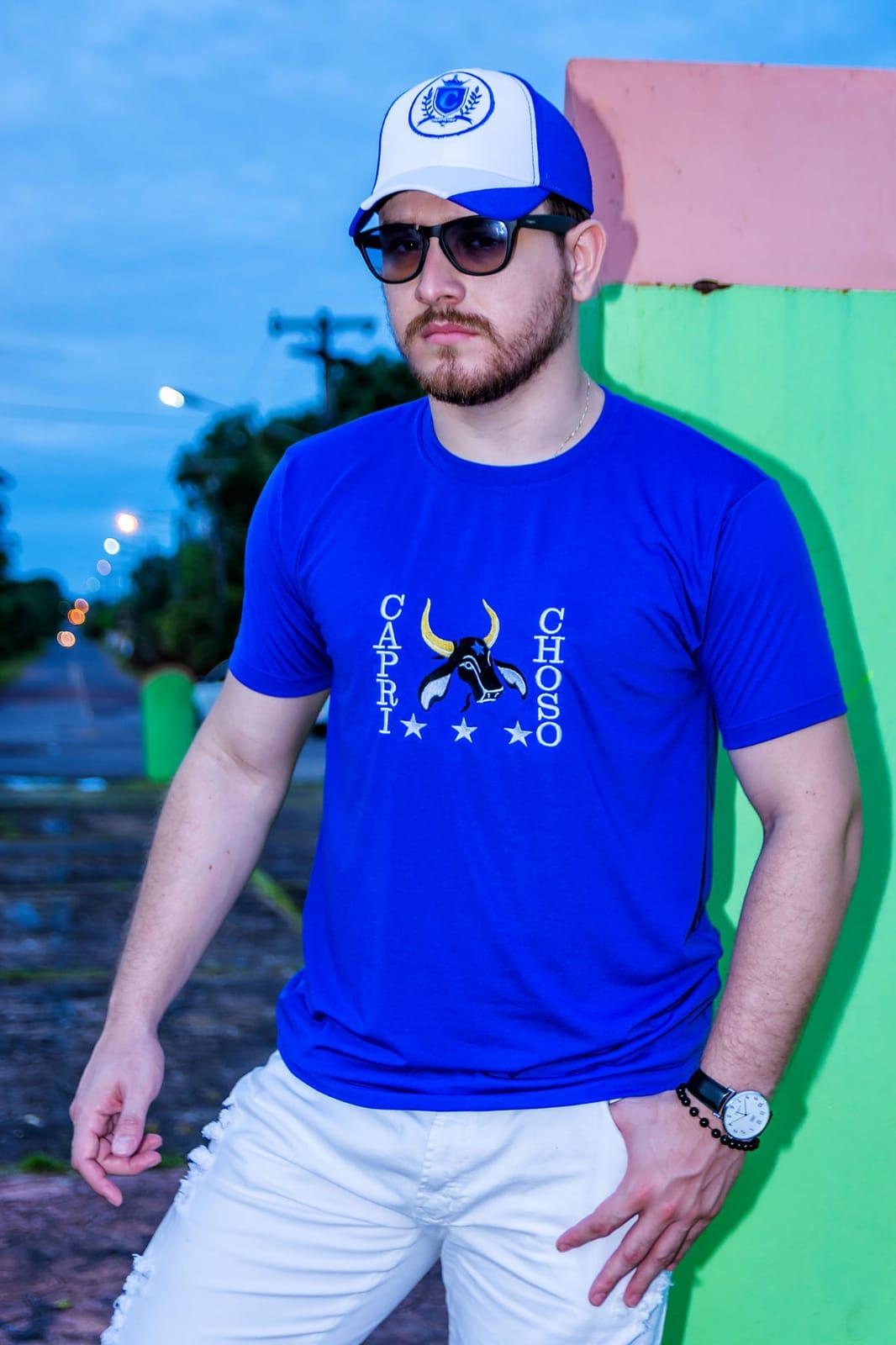 Camisa Básica Caprichoso - Q BOI Produtos do Festival de Parintins