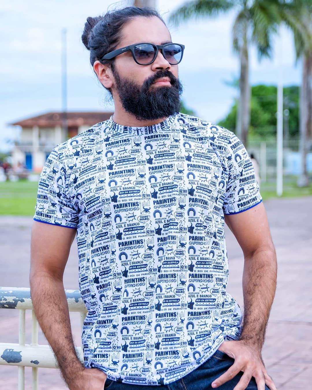 Camisa Caprichoso Gibi - Q BOI Produtos do Festival de Parintins