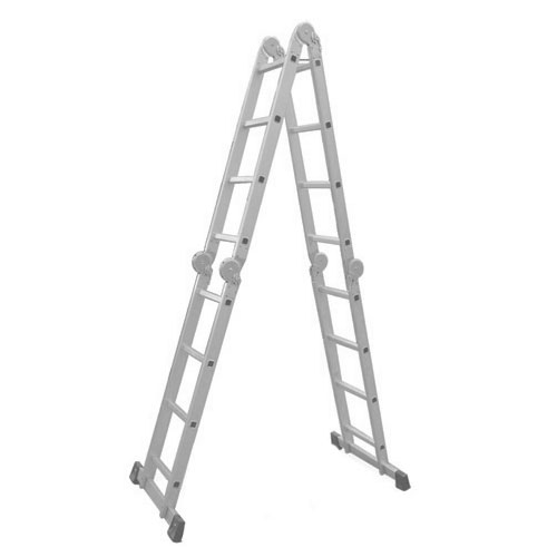 Escada Multiuso De Alumínio Com 16 Degraus