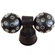 Sistema De Iluminação Bola Maluca Dupla de Led Com DMX (magic ball)