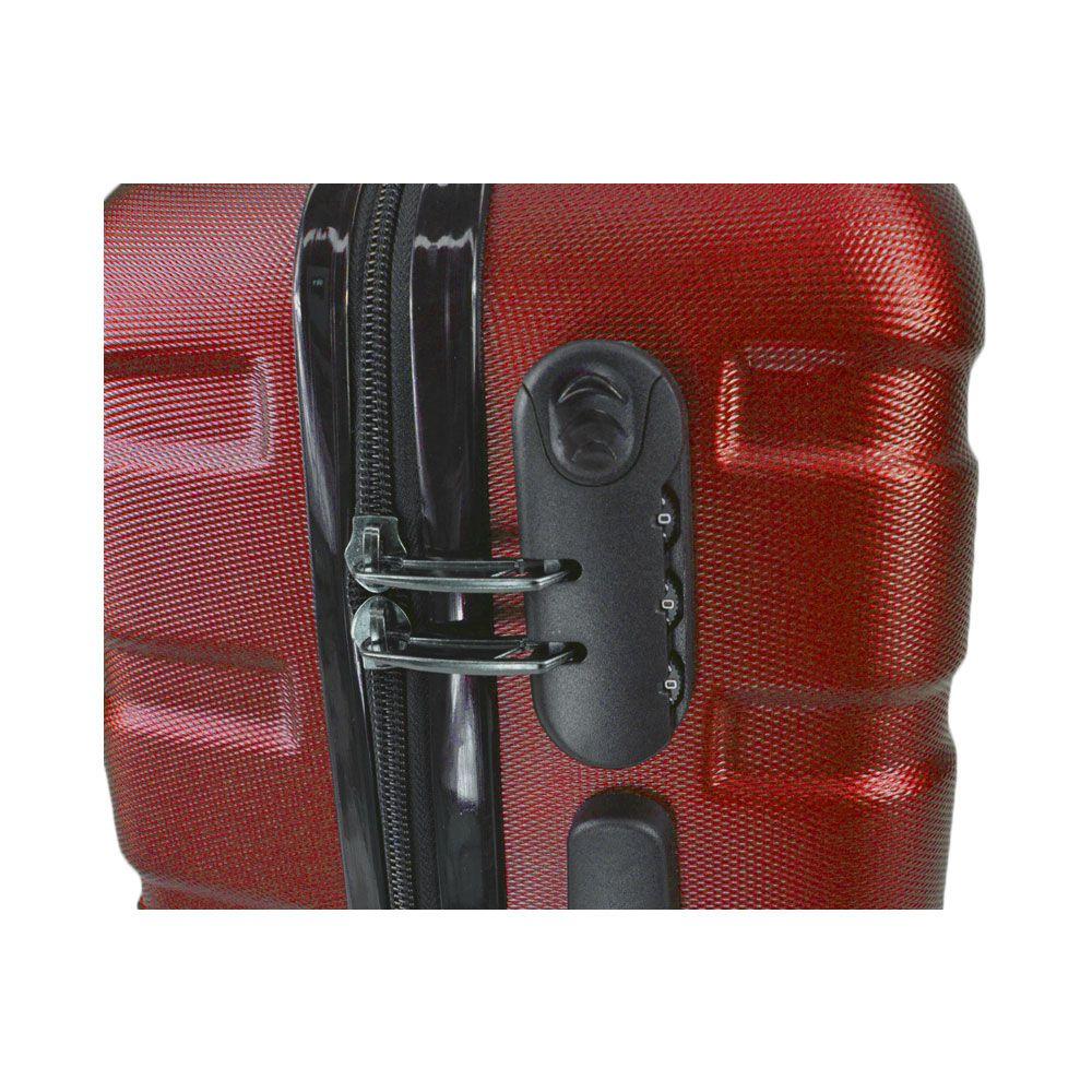 Mala de Viagem Grande Rígida Em ABS - (G) 360 -  Vermelha