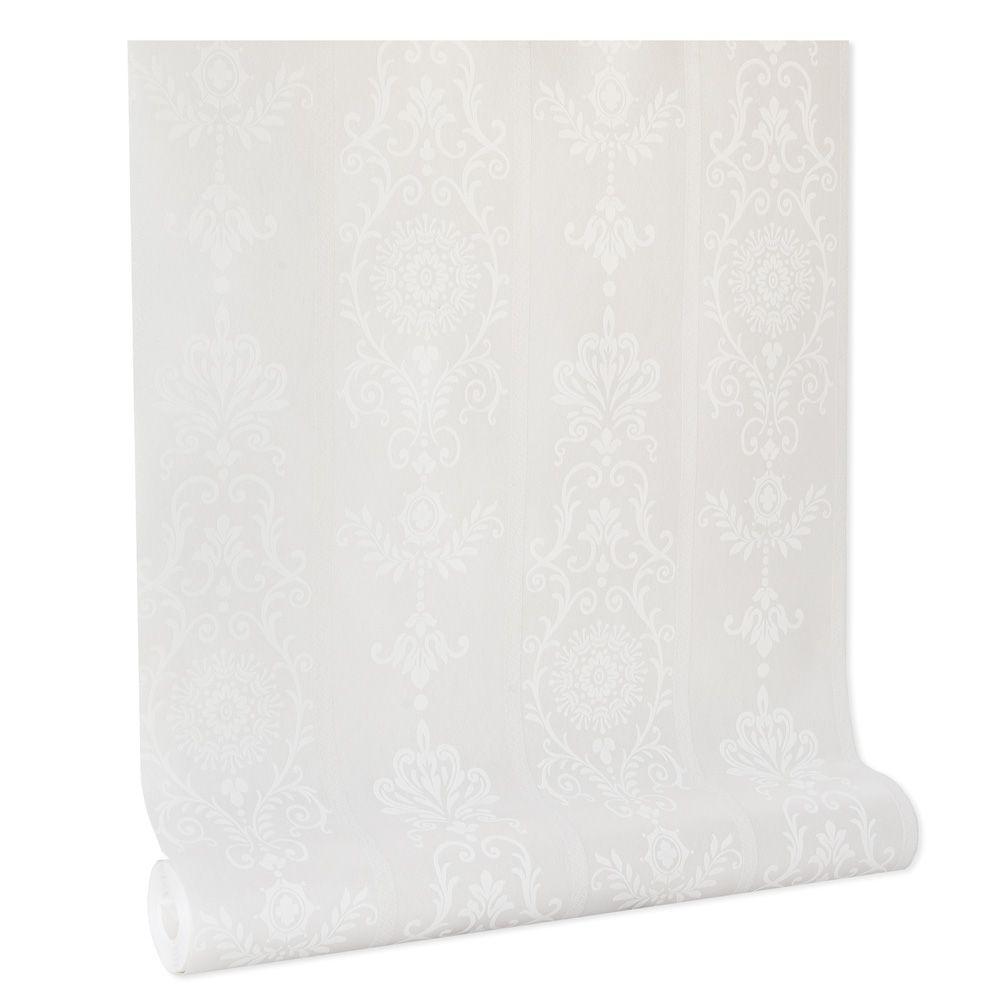 Papel De parede vinílico texturizado arabesco listrado 801