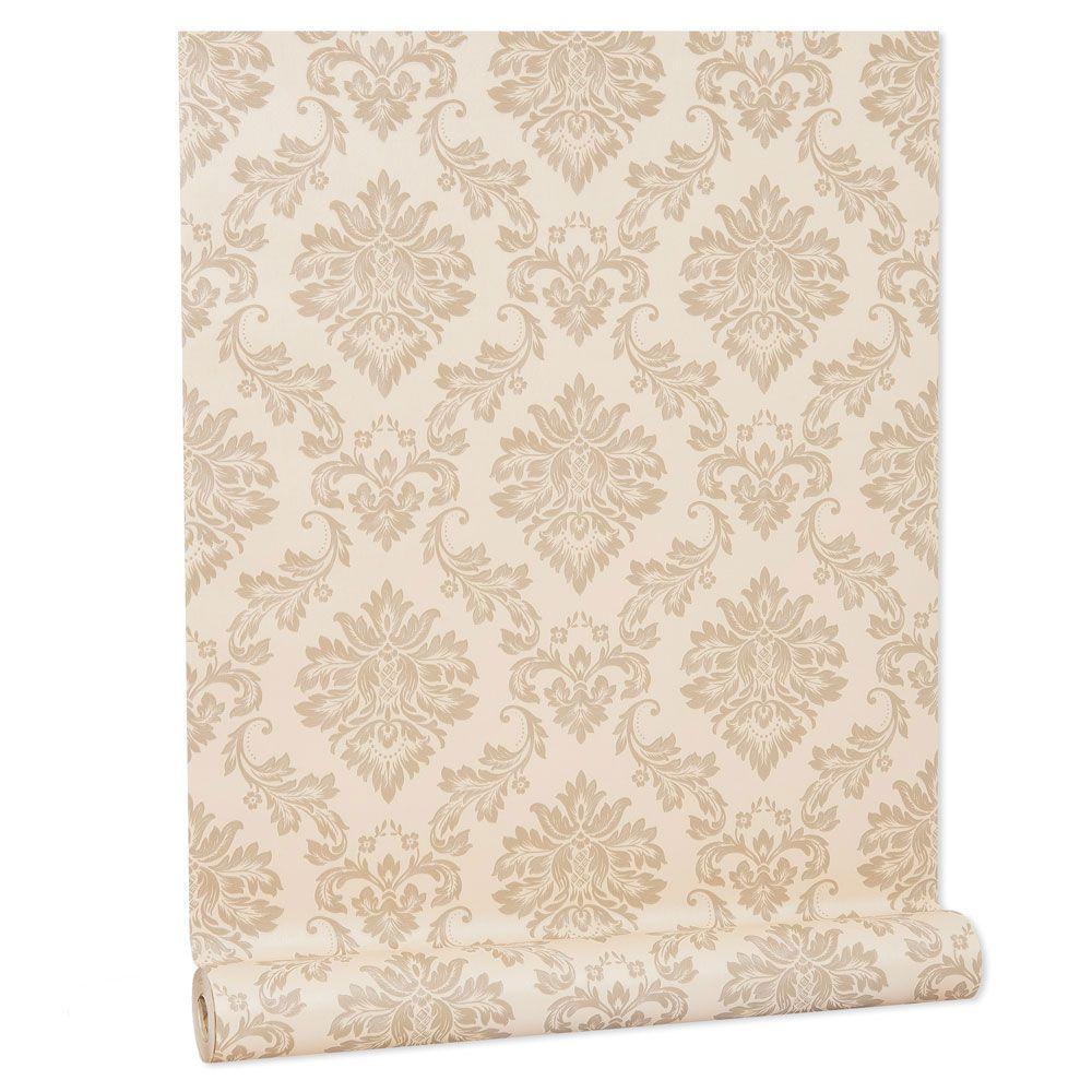 Papel De parede vinílico texturizado arabesco sala 210101
