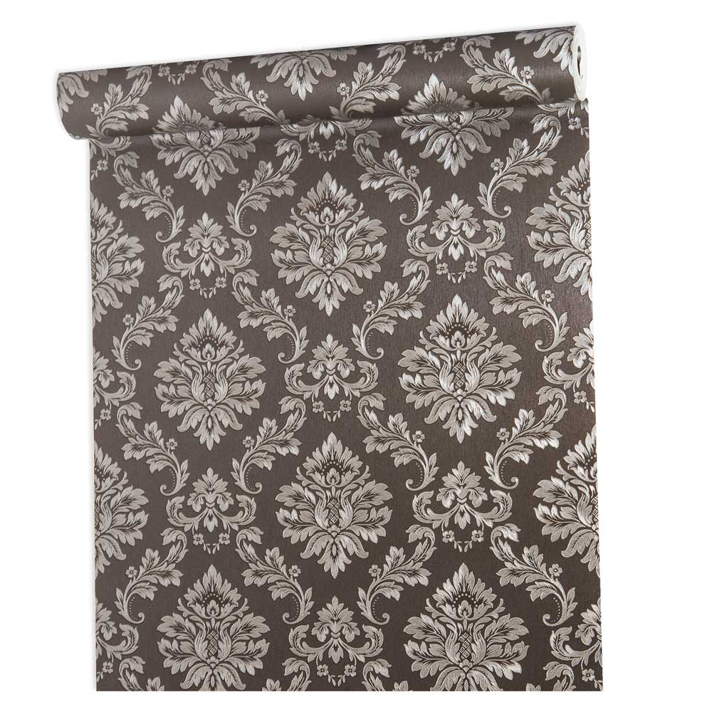 Papel De parede vinílico texturizado arabesco sala 210102