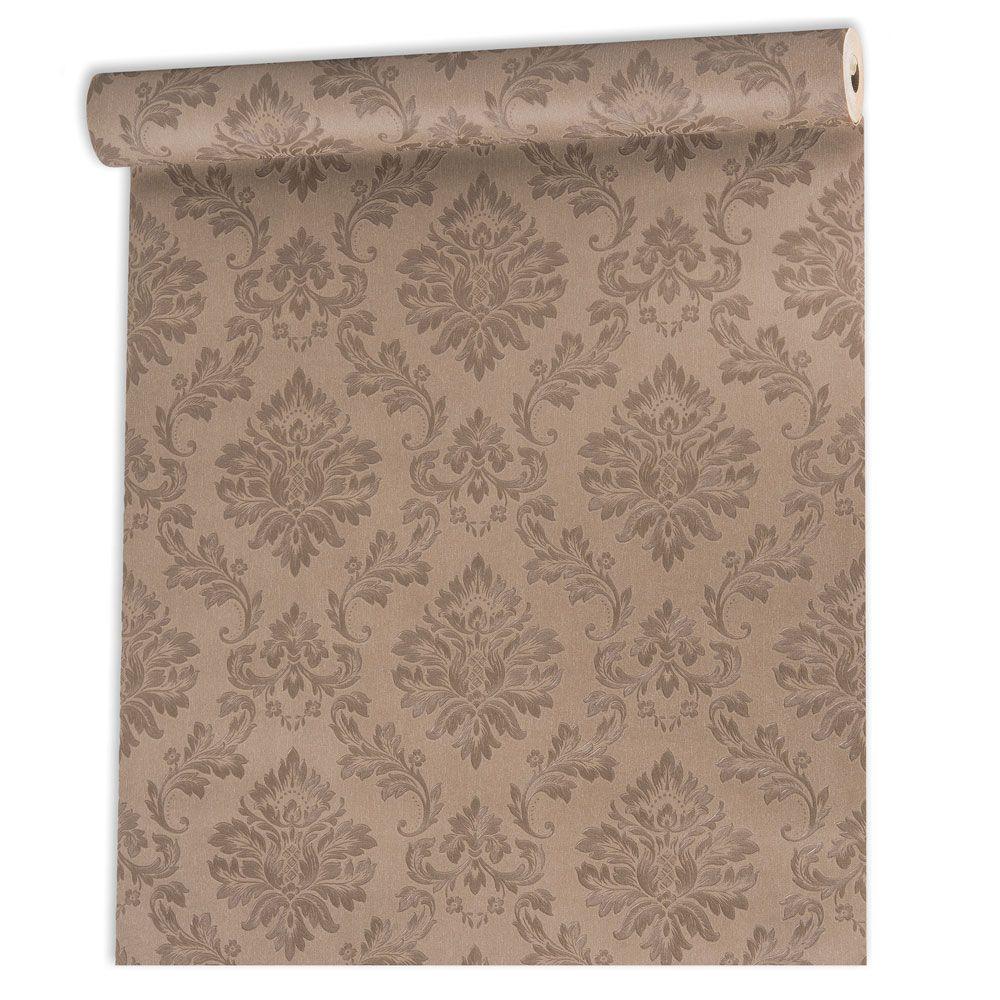 Papel De parede vinílico texturizado arabesco sala 210108