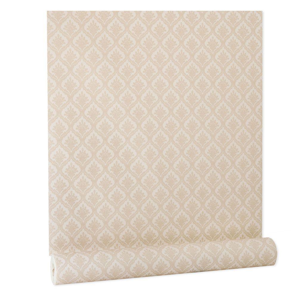 Papel De parede vinílico texturizado arabesco sala 210364