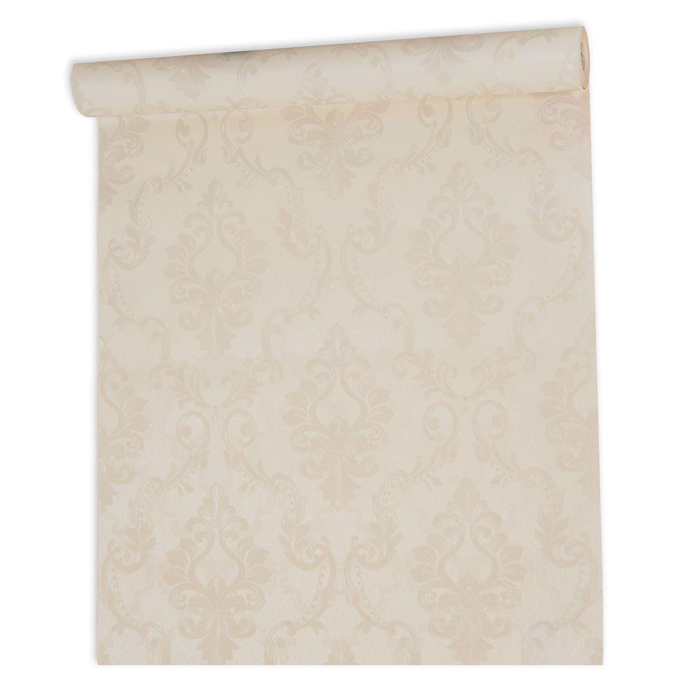 Papel De parede vinílico texturizado arabesco sala 7921