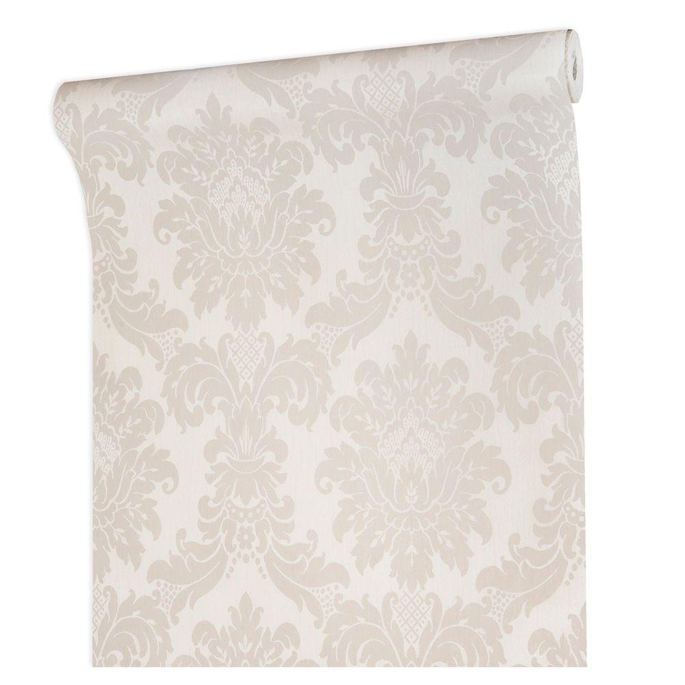 Papel De parede vinílico texturizado lavável arabesco 1006