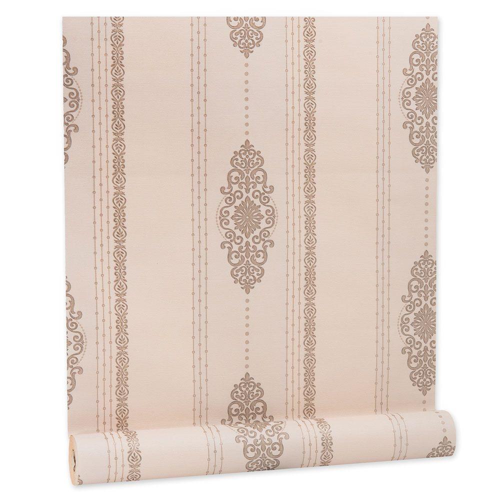 Papel De parede vinílico texturizado listrado sala 5625