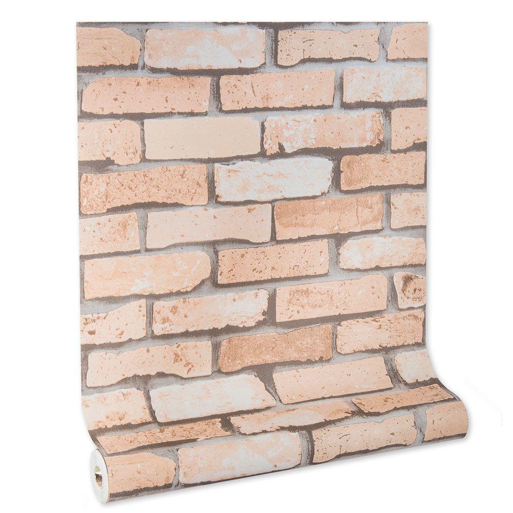 Papel De parede vinílico texturizado tijolo 22122