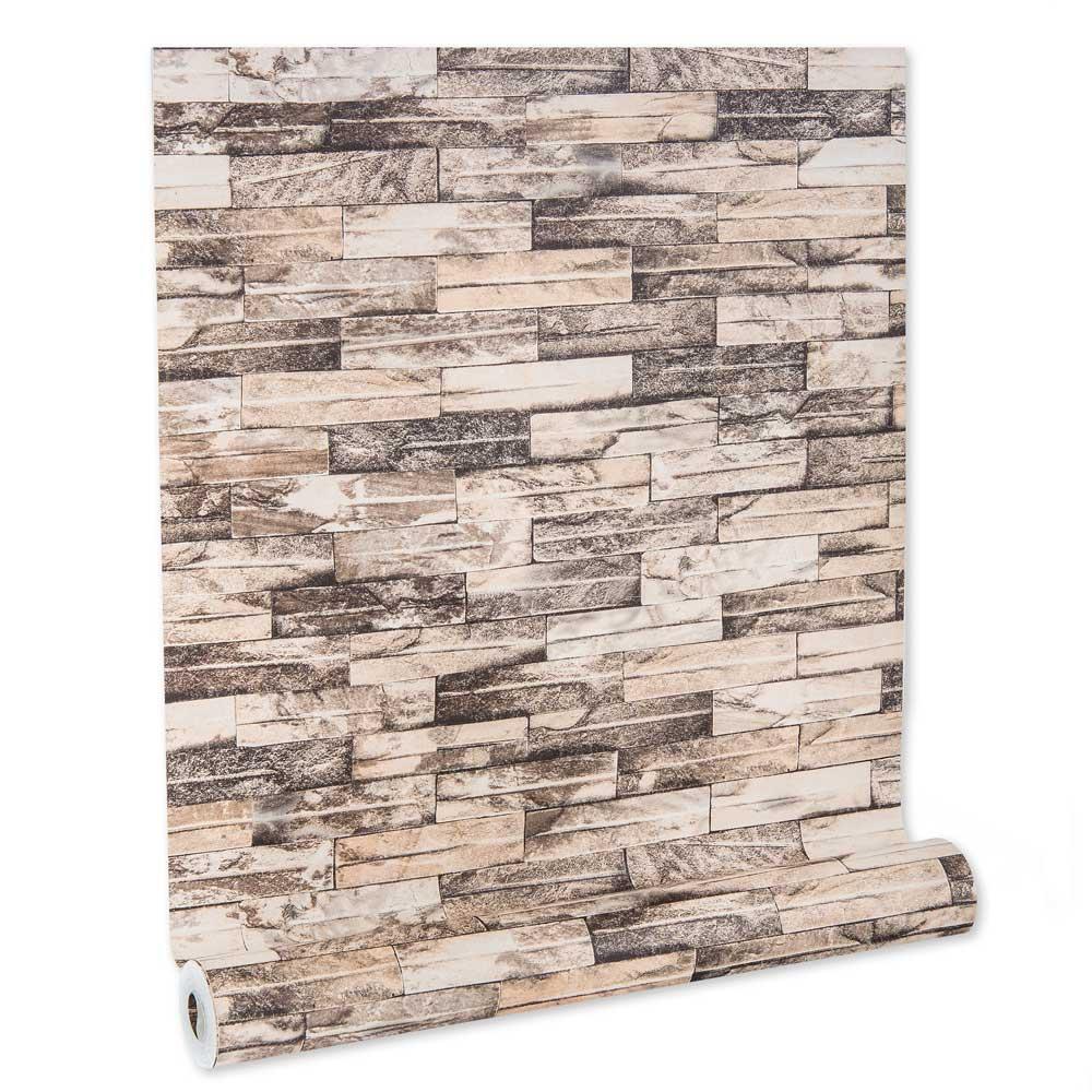 Papel De parede vinílico texturizado tijolo 2224