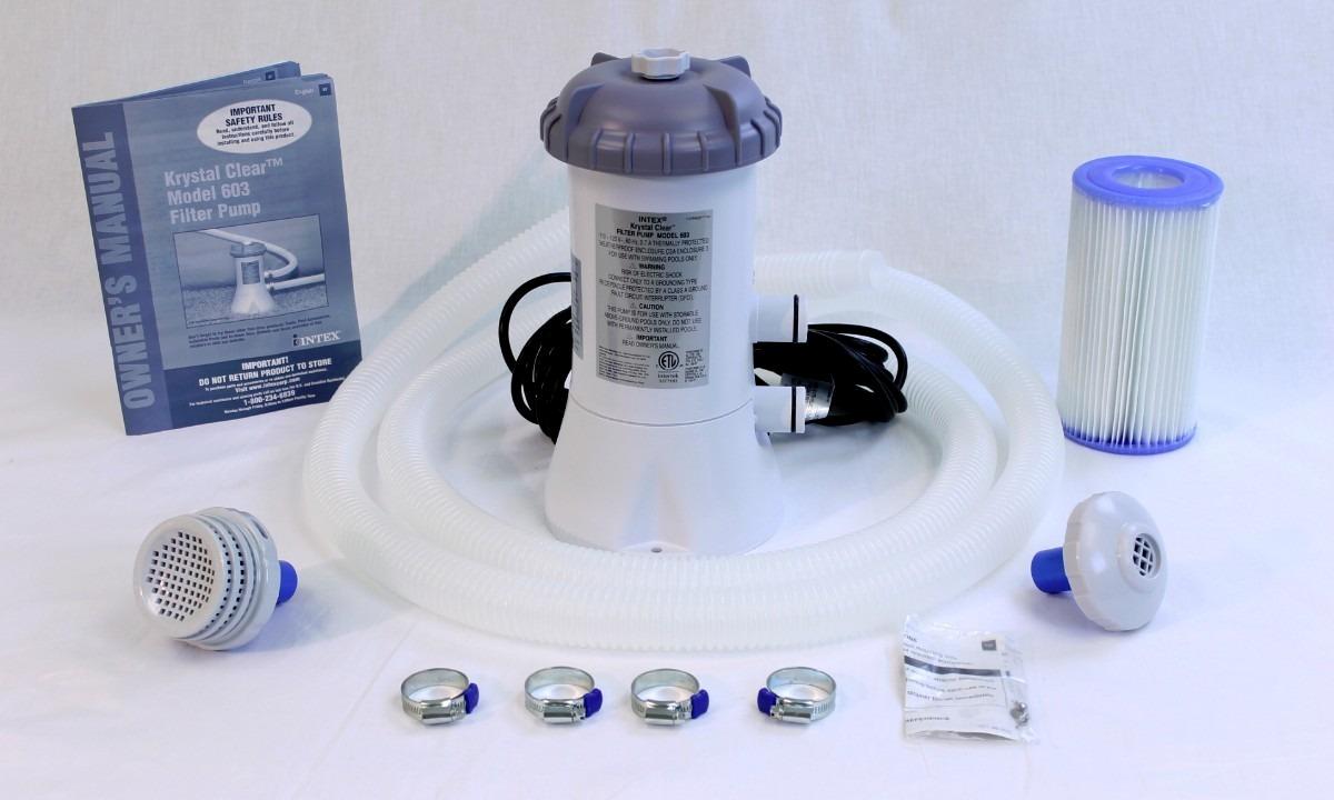 Piscina Intex 14614 Litros Estrutural Bomba Filtrante 110v Filtro Escada Capa #28233 - GIFTCENTER