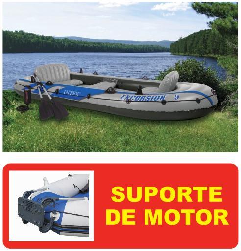 Bote Inflável Intex Excursion 5 #68325 Com SUPORTE DE MOTOR - GIFTCENTER