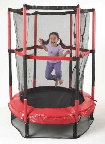 Cama Elástica Mini Trampolim Jr Infantil 1,40m+rede Proteção - GIFTCENTER