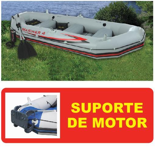 Bote MARINER 4 Intex #68376 04 Pessoas com SUPORTE DE MOTOR Intex - GIFTCENTER