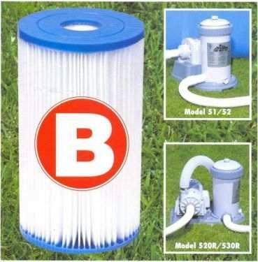 Refil Filtro Cartucho B grande Modelo B Intex #29005 - GIFTCENTER