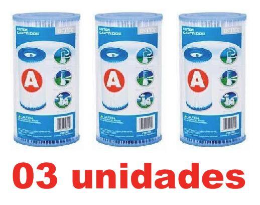 Kit 3 Cartuchos A Filtro Intex Bomba Filtrante 2006 3785 #29003 - GIFTCENTER