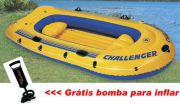 Bote Inflável Challenger 4 Intex 4 Pessoas Bomba Barco - GIFTCENTER