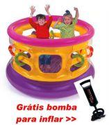 Pula Pula Intex Colorido com Argolas Embr c/  bomba - GIFTCENTER