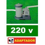 Bomba Filtrante Piscina Intex 9462 LH 220v #28634 + PAR DE ADAPTADORES B - GIFTCENTER