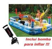 Piscina Intex 852 Litros FORTALEZA DIVERTIDA + Bomba de Inflar - GIFTCENTER