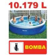 Piscina Bestway 10179 Litros + Bomba de Inflar - GIFTCENTER