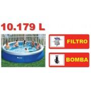 Piscina Bestway 10179 Litros + Bomba Filtrante 110v + Bomba de Inflar - GIFTCENTER