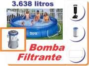 Piscina Bestway 3638 + Bomba Filtrante 110v + Bomba de Inflar - GIFTCENTER