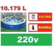 Piscina Bestway 10179 Litros + Bomba Filtrante 220v + Bomba de Inflar - GIFTCENTER