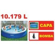 Piscina Bestway 10179 Litros + Bomba de Inflar + CAPA - GIFTCENTER